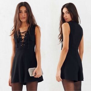 silence + noise lace up romper